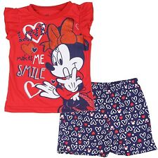 Disney Minnie Mouse Toddler Girls Short Top Set 2 pc Outfit Sz: 2T, 3T, 4T