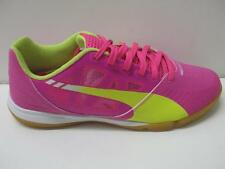 Puma 103140 EvoSpeed Sala Athletic Indoor Soccer Shoes Sneakers Pink Yellow Mens