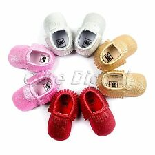 0-18 Months Newborn Baby Toddler Tassel Soft Sole Crib Shoes Moccasin Prewalker