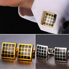Classic Table Design 18K Gold/Platinum Plated Shirt Cufflinks for Men Gifts
