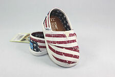 New TOMS Tiny Classics Americana Canvas Flag with Original Box