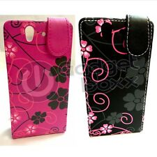 SONY XPERIA Z SWIRL FLOWER DESIGN STYLE PRINT PU LEATHER FLIP POUCH COVER CASE