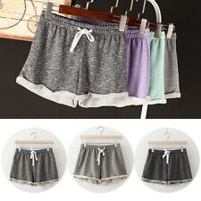 Summer Girls Elastic High Waist Loose Running Yoga Pant Casual Drawstring Shorts