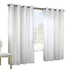 Thermalogic Anna Jacquard Lace Grommet Top Window Panel Pair White