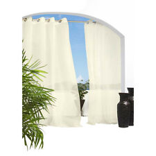 Outdoor Decor Escape Indoor/Outdoor Voile Grommet Top Window Panel Ivory