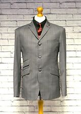 Mod Suit Skinhead Suit Slim Fit 3 Button Single Breasted Pow Grey Check Suit