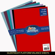 Silentnight Platform Valance Sheet, All colours and sizes available from £7.99