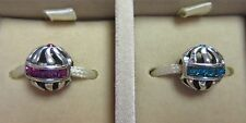 AUTHENTIC CHAMILIA 925 STERLING SILVER BLAZE SWAROVSKI YOU CHOOSE PINK OR BLUE