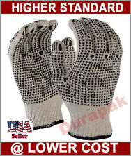 36 Pairs Cotton Work Gloves L, XL w/ Double Side PVC Dot Industrial Warehouse.