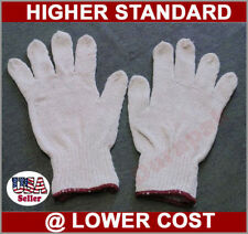 36 Pairs Cotton / Poly Work Working Gloves White Machine Knit, S, M, L, XL Sizes