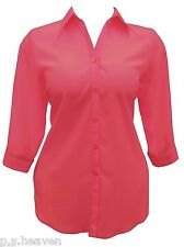 FAB NEW RED SHIRT / BLOUSE - 16,18,20,22,24,26,28/30,32/34, 36 WOMENS PLUS SIZE