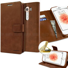 Leather Stand wallet Slim Flip case Purse cover for iPhone SAMSUNG Galaxy LG