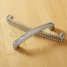 Modern Crystal Drawer Cabinet Kitchen Cupboard Wardrobe Door Knobs Pull Handle