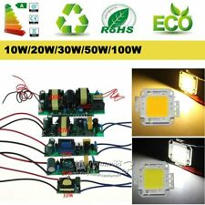 High Power AC 10W/20W/30W/50W/100W LED Driver Supply  LED Chip Light Lamp Bulb