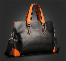 Genuine Leather Tote Laptop Bag Business Messenger/Shoulder Bag Mens Briefcase