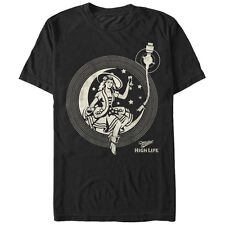 Miller High Life High Life Girl in the Moon Record Mens Graphic T Shirt