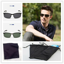 Polarized Sunglasses Mens Outdoor Driving Sport Aviator Glasses Eyewear+Gift Bag