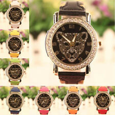 Fashion Women Leopard Pattern Diamond Women Watch Quartz Wrist Watch Elegant