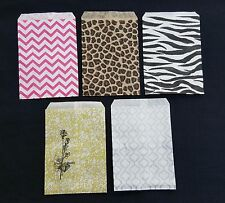 LOT 100 PAPER GIFT BAGS & JEWELRY BAG POUCH 5 COLORS & 4 SIZES BUY 9 GET 1 FREE