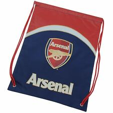 Arsenal FC Drawstring Gym Bag Red/Blue Football Soccer PE Sports Kit Sack