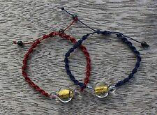 Knots Bracelets White Quartz Red Blue Macrame gemstones accessory bangle gift