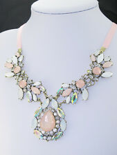 Fashion Occident style hyperbole cherry blossom Crystal gem charms Necklace