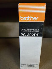 ORIGINAL BROTHER PC-302RF FAX MACHINE ROLL TWIN PACK / 2 ROLLS / STOCK CLEARANCE