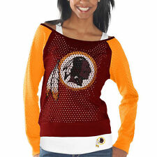 Washington Redskins Womens Red/Gold Holey Long Sleeve T-Shirt and Tank Top