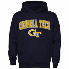 Georgia Tech Yellow Jackets Youth Navy Blue Midsized Pullover Hoodie