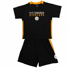 Pittsburgh Steelers Toddler Black Field Goal Shorts and T-Shirt Set