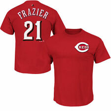 Majestic Todd Frazier Cincinnati Reds Red Official Name and Number T-Shirt