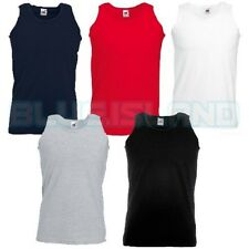 10 PACK FRUIT OF THE LOOM VEST ATHLETIC BLANK TANK TOP GYM TRAINING SUMMER PLAIN
