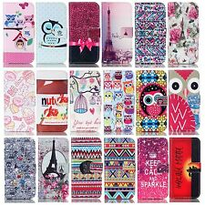 cellphone Pu leather+Rubber wallet case stand cover protect skin card pockets