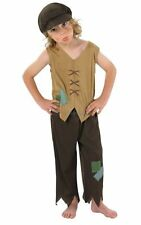 Kids Victorian Urchin Oliver Twist Boys Book Week Fancy Dress Costume Outfit
