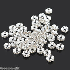 Gift Wholesale Silver Plated Rondelle Spacer Beads 6mm