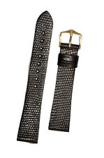 Hirsch 'Lizard' Skin Leather Watch Strap