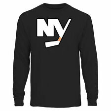 Rinkside New York Islanders Black Big & Tall Primary Logo Long Sleeve T-Shirt