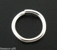 Gift Wholesale Silver Plated Open Jump Rings 6x0.9mm Findings