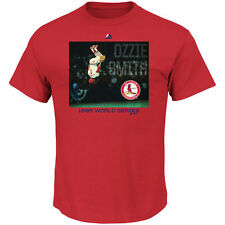 Majestic Ozzie Smith St. Louis Cardinals Red Cooperstown Genuine Player T-Shirt
