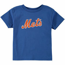 Soft As A Grape New York Mets Toddler Royal Tiny Fan Wordmark T-Shirt