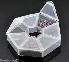 Gift Wholesale Beads Storage Containers W/7 Compartments 9x9x2cm