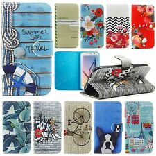 mobile phone leather case patterned wallet flip cover protective skins soft TPU