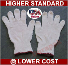 300 Pairs Cotton /Poly Work Working Gloves White Machine Knit, S, M, L, XL Sizes