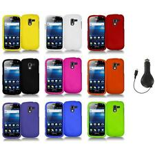 Color Hard Snap-On Case Skin Cover+RET Charger for Samsung Exhilarate i577