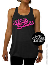 Doll Bride's Bitches - Barbie Bridal Collection - Black Flowy Tank Top - 2 Inks