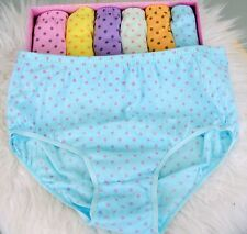 VTG Style Sissy Polka Dot HIGH cut sissy 6 Colors brief Granny panties sz L XL