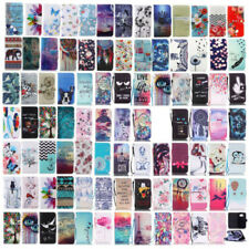 For iPhone 7 Plus 5s leather case patterned wallet flip cover protective skins