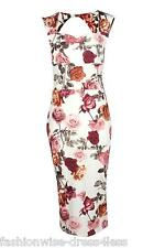 M&S WOMENS LADIES FLORAL SUMMER PARTY BODYCON EVENING DRESS 10 12 14 16