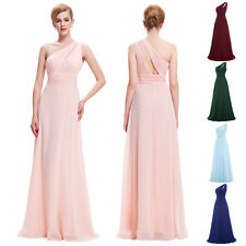 One-Shoulder Sexy Long Maxi Bridesmaid Prom Evening Formal Cocktail Party Dress