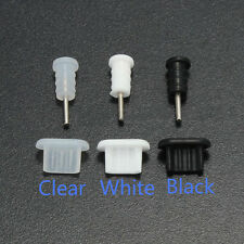 10X  3.5mm Earphone Jack Micro USB Cell Phone Port Cover Cap Dust Protector